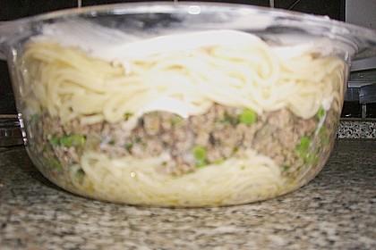 Pikanter Spaghetti - Auflauf mit Hackfleisch und Erbsen 2