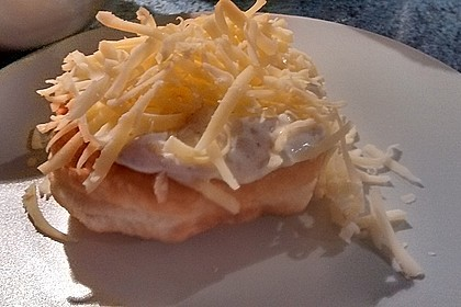 Ungarische Langos mit Knoblauchcreme und Käse 62