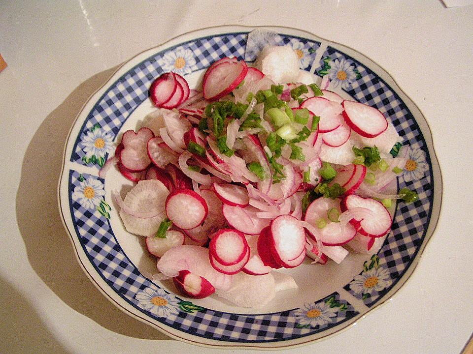 rettich radieschen salat rezept mit bild von kochmami. Black Bedroom Furniture Sets. Home Design Ideas