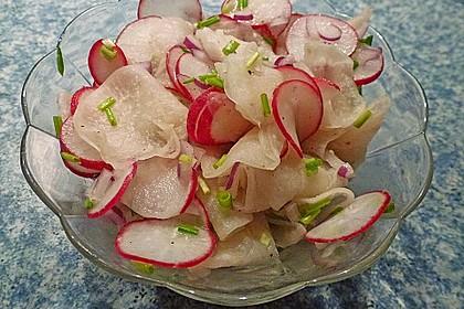 Rettich - Radieschen - Salat