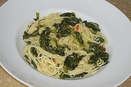 Spaghetti mit Kokosspinat 3