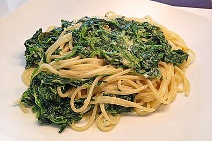 Spaghetti mit Kokosspinat 4