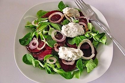 Rote Bete - Salat mit Käsenocken 1