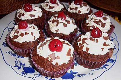 Schwarzwälder Kirsch Cupcakes 152