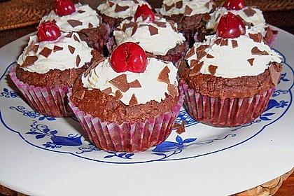 Schwarzwälder Kirsch Cupcakes 123