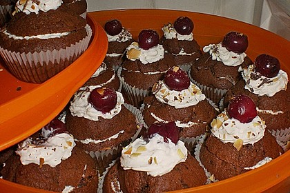 Schwarzwälder Kirsch Cupcakes 158