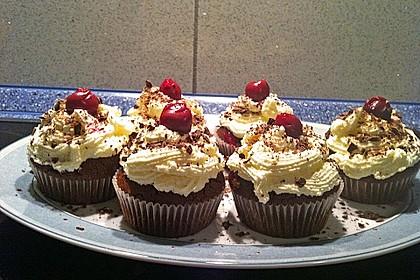 Schwarzwälder Kirsch Cupcakes 150