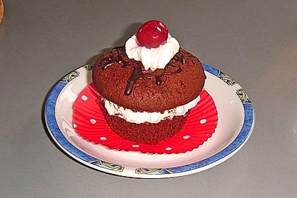 Schwarzwälder Kirsch Cupcakes 117