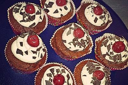 Schwarzwälder Kirsch Cupcakes 170