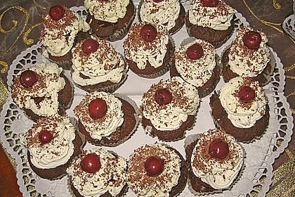 Schwarzwälder Kirsch Cupcakes 112