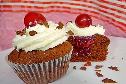 Schwarzwälder Kirsch Cupcakes 58