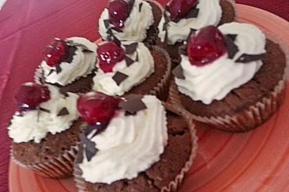 Schwarzwälder Kirsch Cupcakes 212
