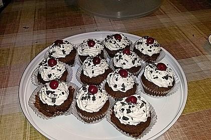 Schwarzwälder Kirsch Cupcakes 115