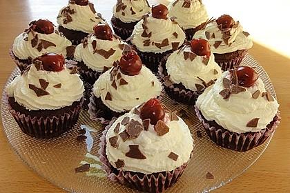 Schwarzwälder Kirsch Cupcakes 62