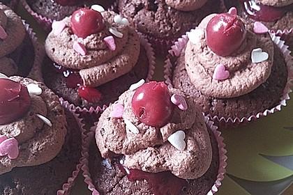 Schwarzwälder Kirsch Cupcakes 159