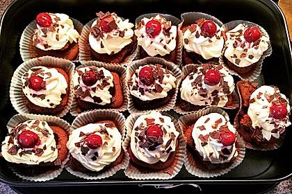 Schwarzwälder Kirsch Cupcakes 50