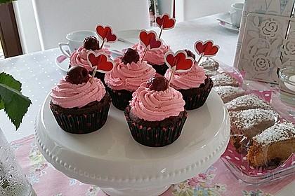 Schwarzwälder Kirsch Cupcakes 119