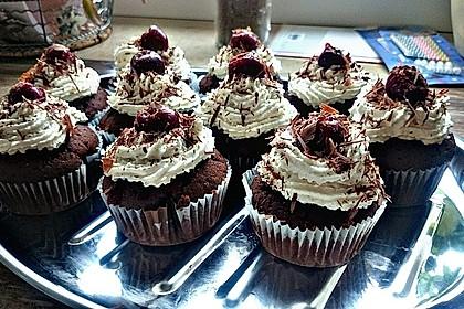 Schwarzwälder Kirsch Cupcakes 145