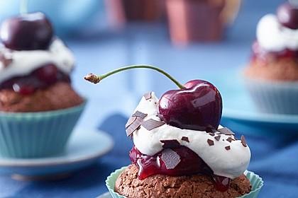 Schwarzwälder Kirsch Cupcakes 2