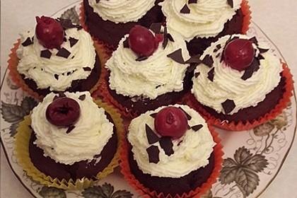 Schwarzwälder Kirsch Cupcakes 138