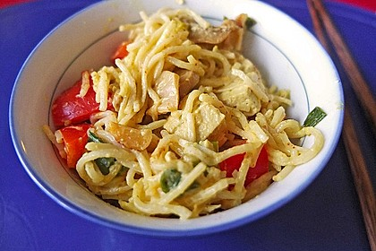 Asia Nudeln mit Ingwer und Tofu 1