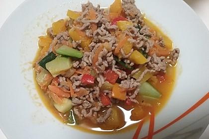 Hackfleisch - Gemüse - Pfanne 23