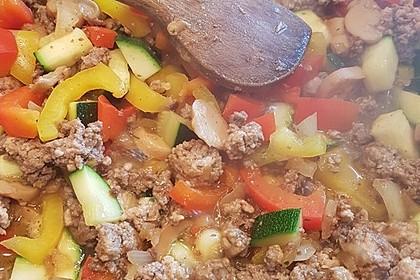 Hackfleisch - Gemüse - Pfanne 20