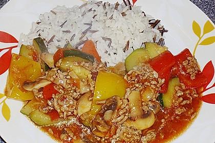 Hackfleisch - Gemüse - Pfanne 18