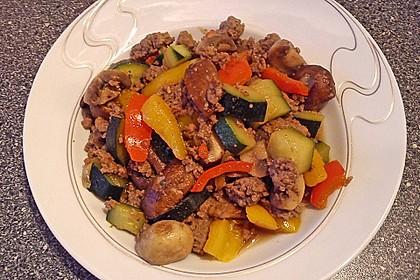Hackfleisch - Gemüse - Pfanne 8