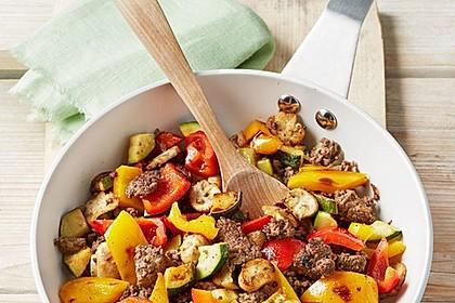 Hackfleisch - Gemüse - Pfanne 2
