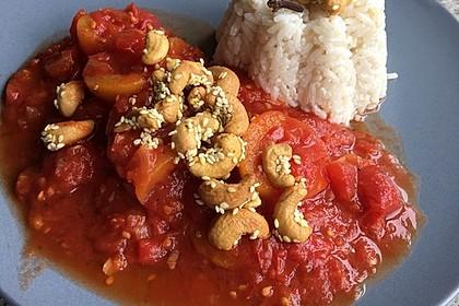 Aprikosen - Tomaten - Ragout mit scharfem Gewürzreis 10
