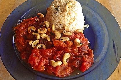 Aprikosen - Tomaten - Ragout mit scharfem Gewürzreis 3
