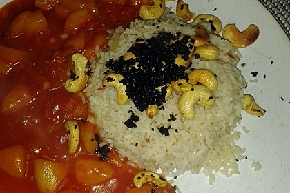 Aprikosen - Tomaten - Ragout mit scharfem Gewürzreis 8