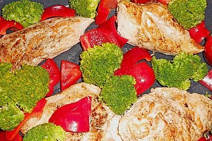 Paprika - Brokkoli - Hähnchen 3