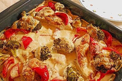 Paprika - Brokkoli - Hähnchen 1