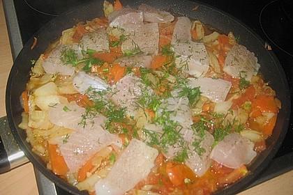 Fisch - Gemüse - Pfanne mit Fenchel 1