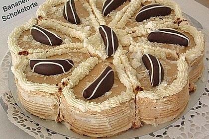 Bananen - Mokka Torte