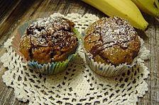 Bananen - Muffins mit Schokolade