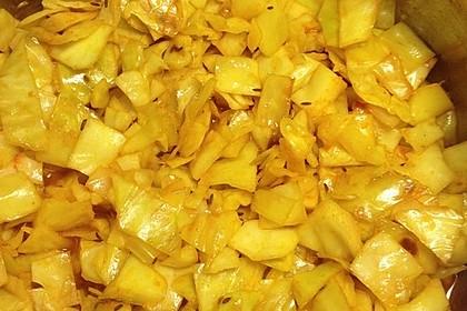 Gebratener Weißkohl auf indische Art 5