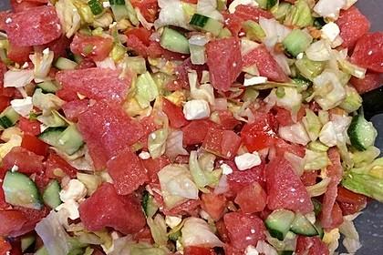 Melonensalat mit Feta 10