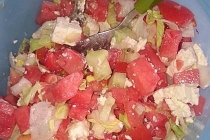 Melonensalat mit Feta 16