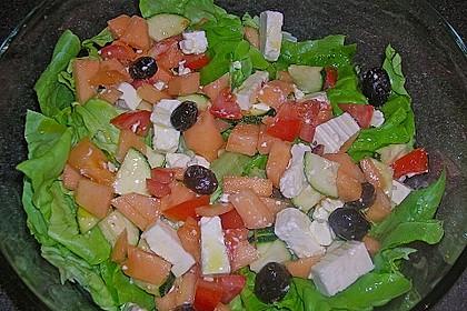 Melonensalat mit Feta 8