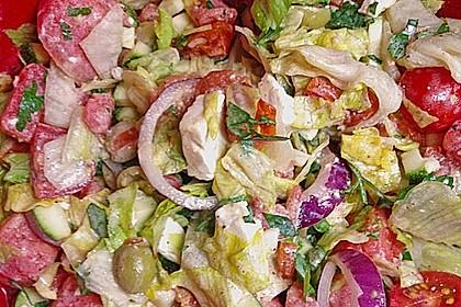 Melonensalat mit Feta 14