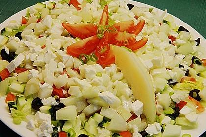 Melonensalat mit Feta 6