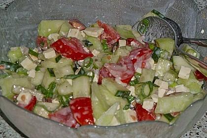 Melonensalat mit Feta 15
