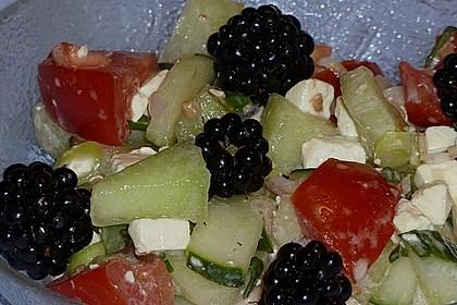 Melonensalat mit Feta 4
