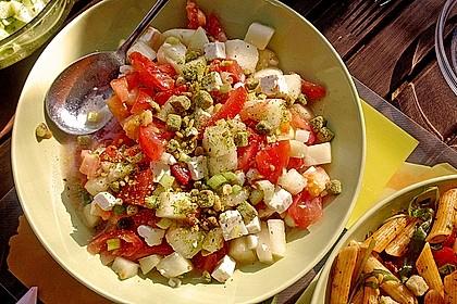 Melonensalat mit Feta 1