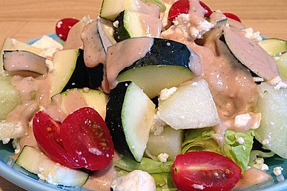 Melonensalat mit Feta 9