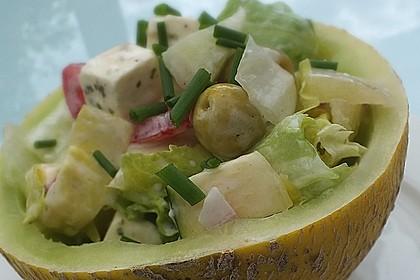 Melonensalat mit Feta 5