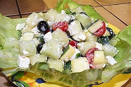 Melonensalat mit Feta 17